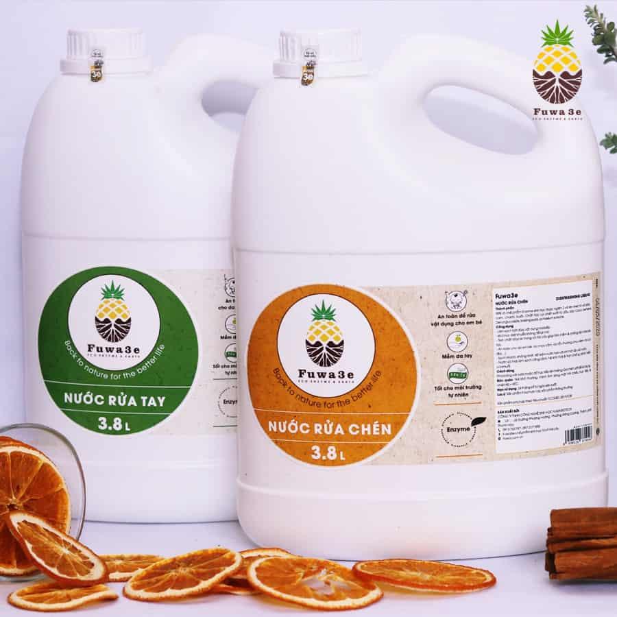 sản phẩm rửa tay làm sạch và diệt khuẩn hữu cơ