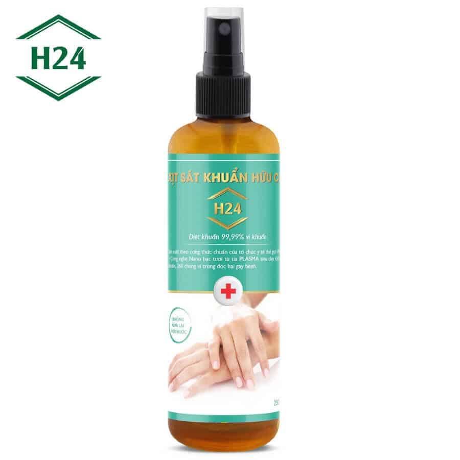 Xịt khử khuẩn hữu cơ H24